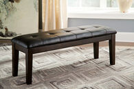 Ashley Haddigan Dark Brown Large Upholstered Dining Room Bench