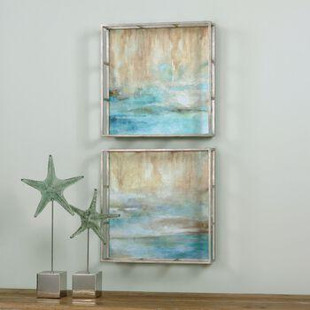 Uttermost Through The Mist Abstract Art, S/2