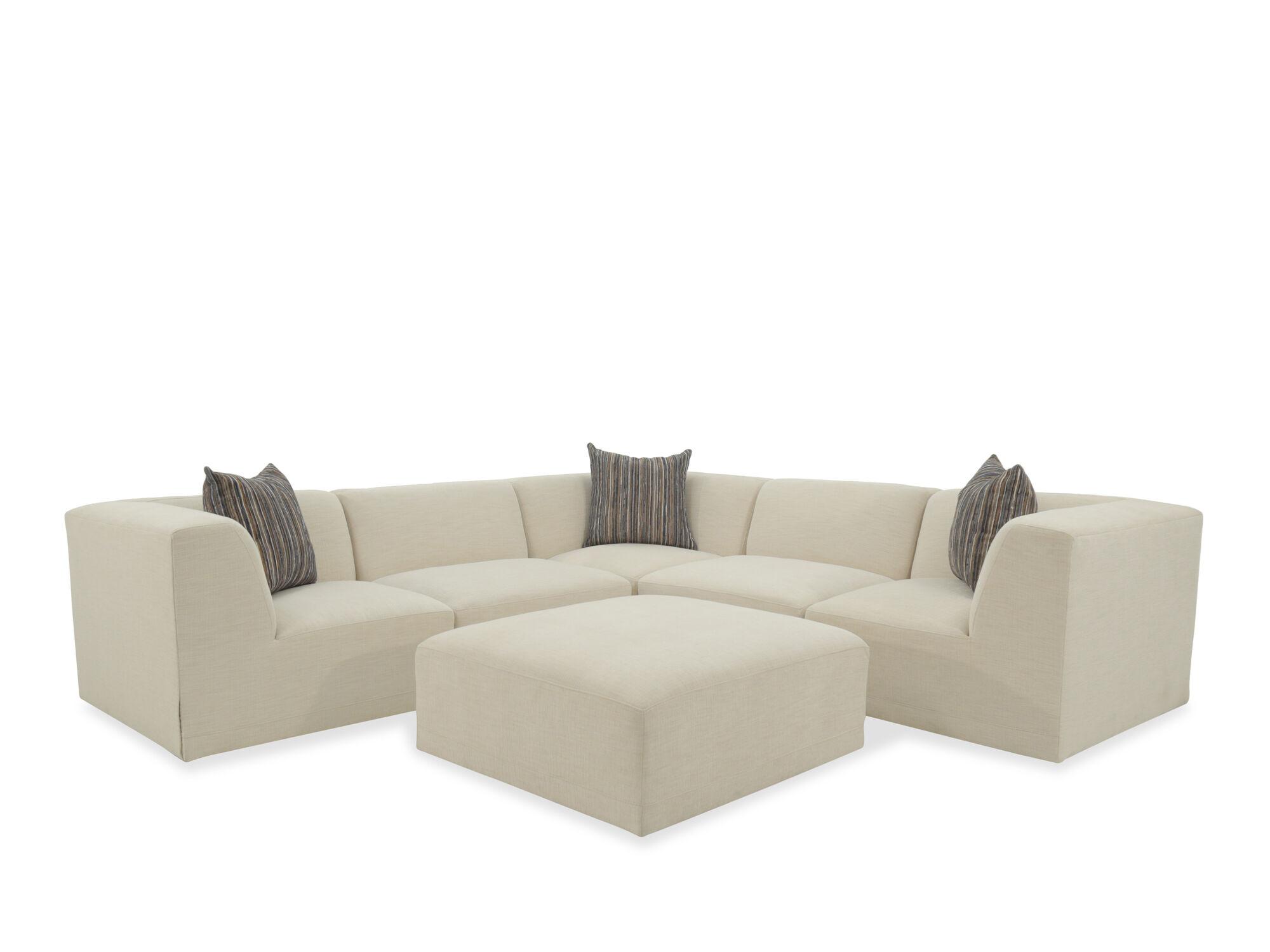 Jonathan Louis Finn Victory Ivory SixPiece Sectional Sofa