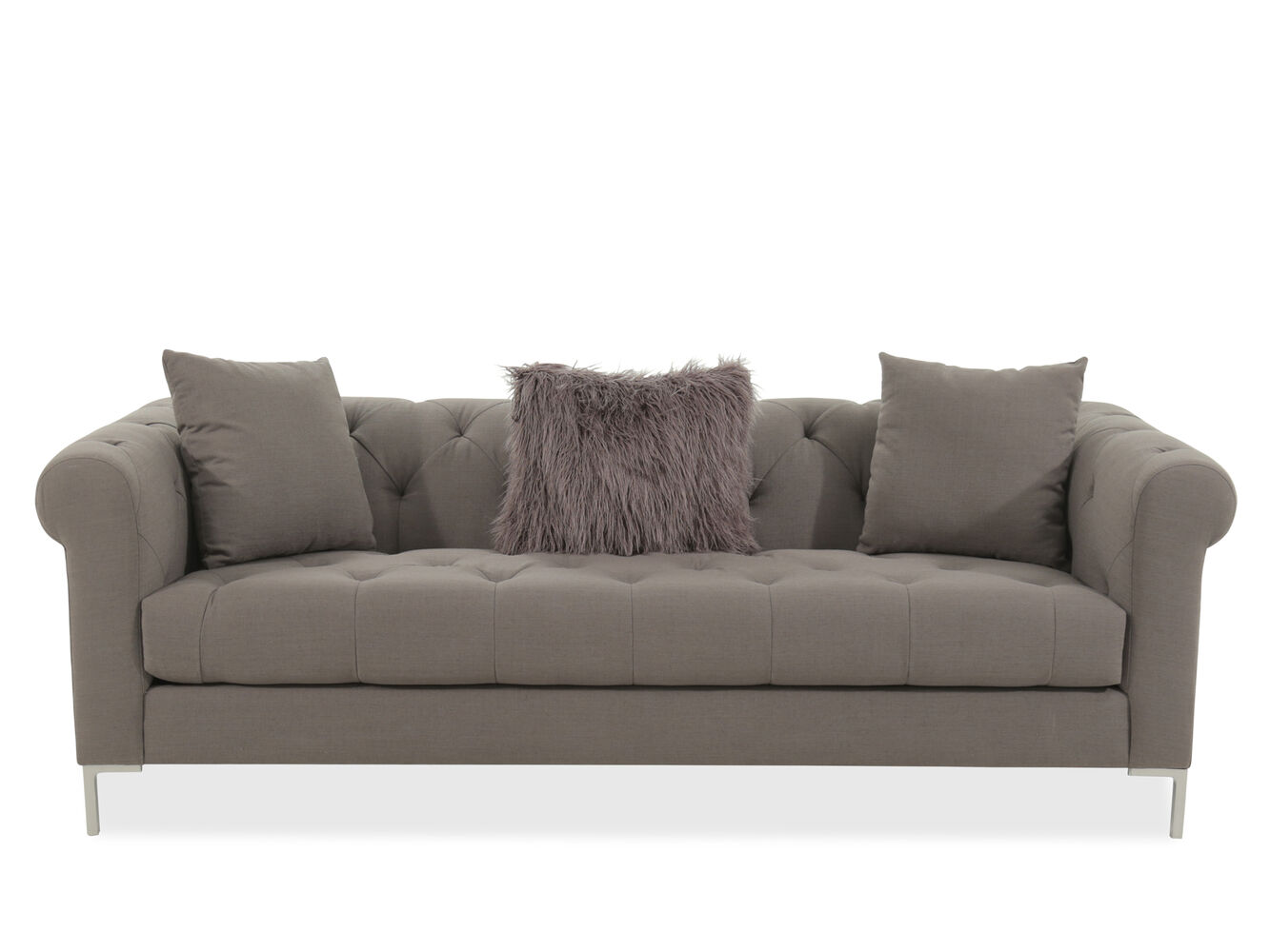 Jonathan Louis Carter Gray Sofa  Mathis Brothers Furniture