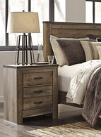 Ashley Trinell Brown Two-Drawer Nightstand