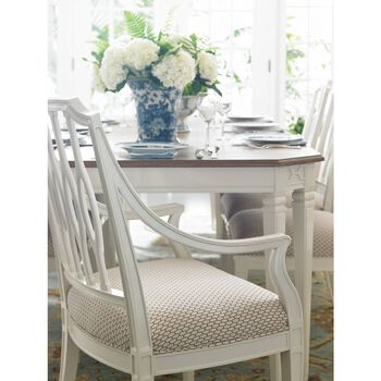 Stanley Charleston Regency Ropemaker's White Cooper Dining Arm Chair
