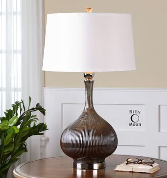Uttermost Irpina Rust Charcoal Table Lamp
