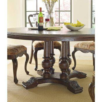 "Stanley Rustica Sorrel 64"" Round Table"