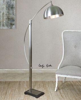 Uttermost Malcolm Brushed Nickel Floor Lamp