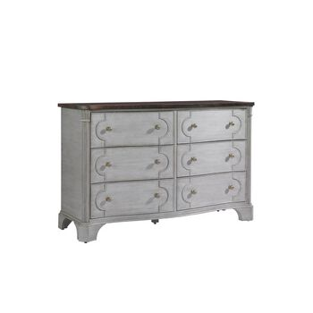 Stanley Charleston Regency Gray Linen Island House Dresser