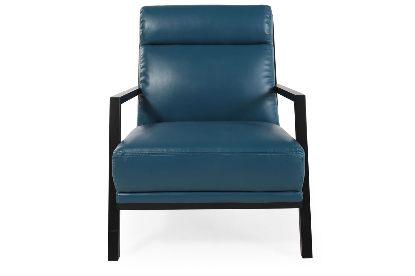 Boulevard Blue Leather Accent Chair. Boulevard Blue Leather Accent Chair   Mathis Brothers Furniture