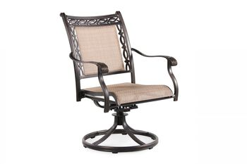 World Source Athens Sling Swivel Chair