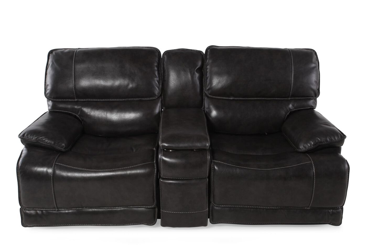 Simon Li Stampede Power Reclining Loveseat With Console Mathis Brothers Furniture