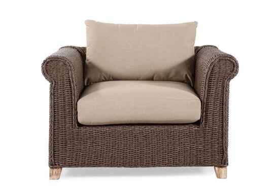 World Source Vineyard Haven Teak Wicker Club Chair