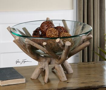 Uttermost Thoro Wood Bowl