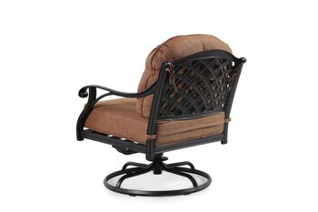 World Source Castle Rock Patio Swivel Club Chair
