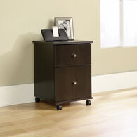 MB Home Office Central Cinnamon Cherry File Cart
