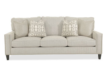 Bernhardt Track Arm Sofa with Nailhead