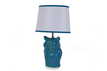 Ashley Sarva Blue Owl Lamp