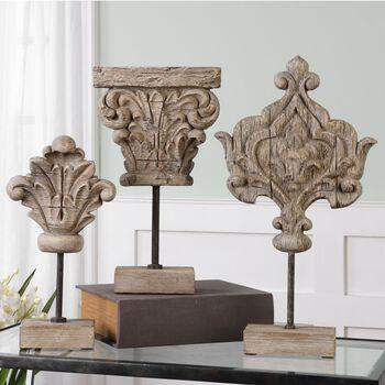 Uttermost Marta Wood Sculptures, S/3