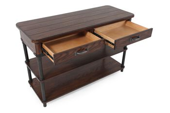 Broyhill Saluda Oak Sofa Table