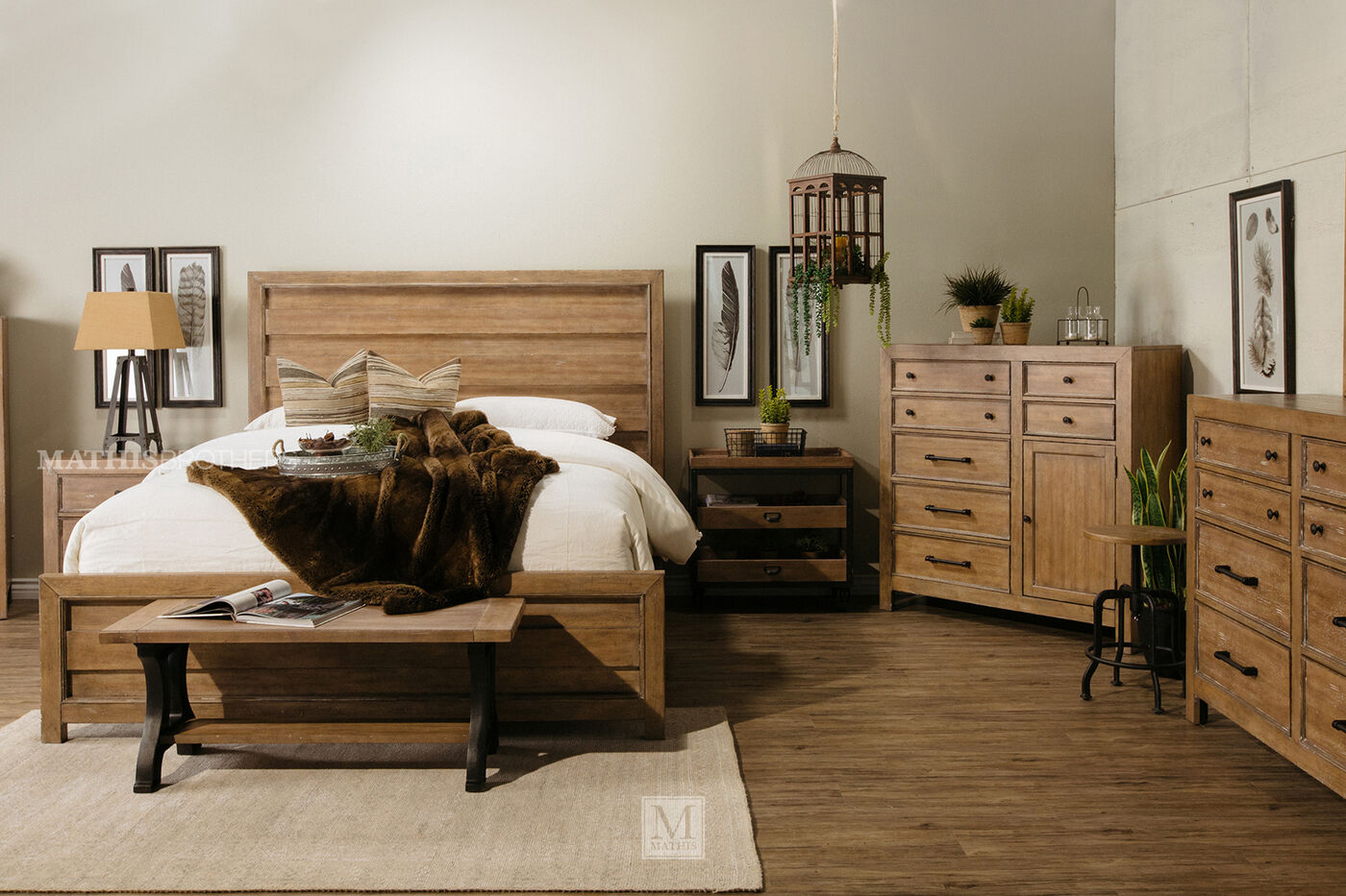 Samuel Lawrence FB Avenue Light Oak Bedroom Suite. Samuel Lawrence FB Avenue Light Oak Bedroom Suite   Mathis