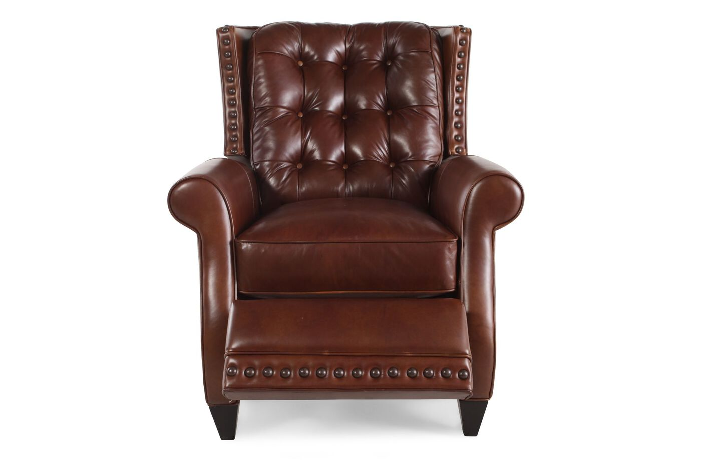 Bernhardt Pierce Leather Recliner Mathis Brothers Furniture
