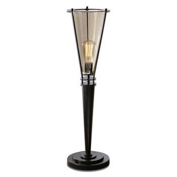 Uttermost Frisco Black Metal Accent Lamp