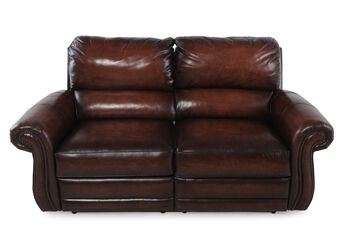 Bernhardt reese reclining loveseat mathis brothers furniture for Sofa bed 91762