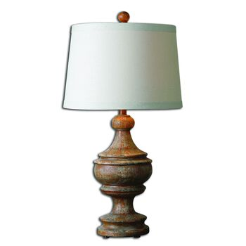 Uttermost Via Lata Solid Wood Table Lamp