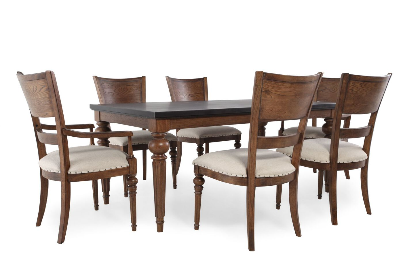 Universal New Bohemien Coffee House Seven Piece Dining Set Mathis Brothers Furniture