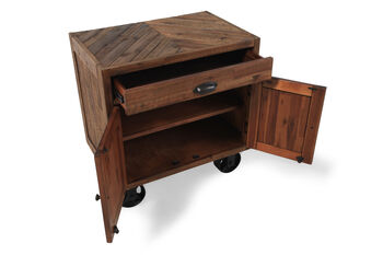 Magnussen Home River Ridge Nightstand with Casters