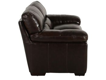 Simon Li Leather Longhorn Black Oak Loveseat