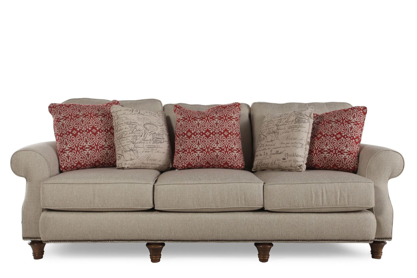 Broyhill whitfield sofa mathis brothers furniture for Broyhill furniture