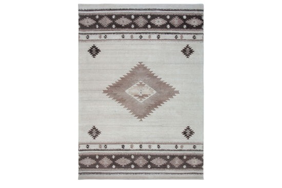 LBJ Hand Tufted Wool Natural Southwest Rug