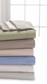 Dreamfit 5°/300tc Split Cal King Bamboo Ecru Sheet Set