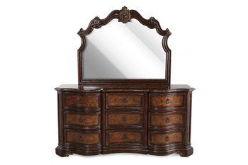 Hooker beladora dresser and mirror mathis brothers furniture for Beladora bedroom set