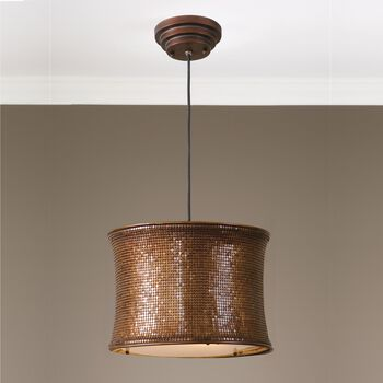 Uttermost Marcel Copper Drum Pendant