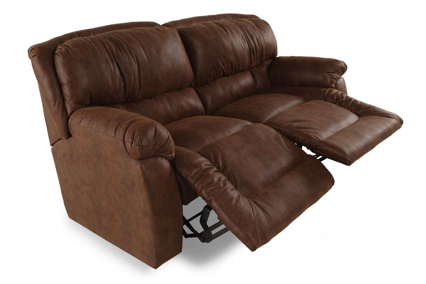Lane Orlando Walnut Reclining Sofa Mathis Brothers Furniture