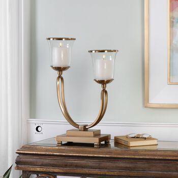 Uttermost Nunzia Coffee Bronze Candleholder