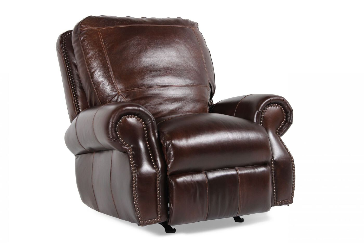 Usa Leather Oak Paisley Recliner Mathis Brothers Furniture
