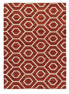 Ashley Flatweave Burnt Orange Large Rug