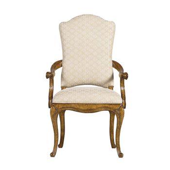 Stanley Arrondissement Sunlight Anigre Volute Arm Chair