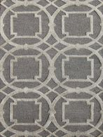 LBJ Hand Tufted Wool/Viscose Grey/grey 5' X 8' Rug