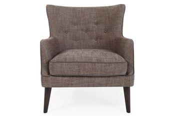 Boulevard Khaki Tweed Accent Chair