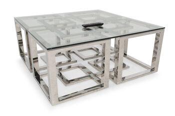Bernhardt Soho Luxe Metal Cocktail Table