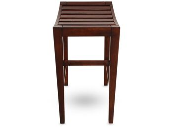 LA Home Distressed Mahogany Counter Stool