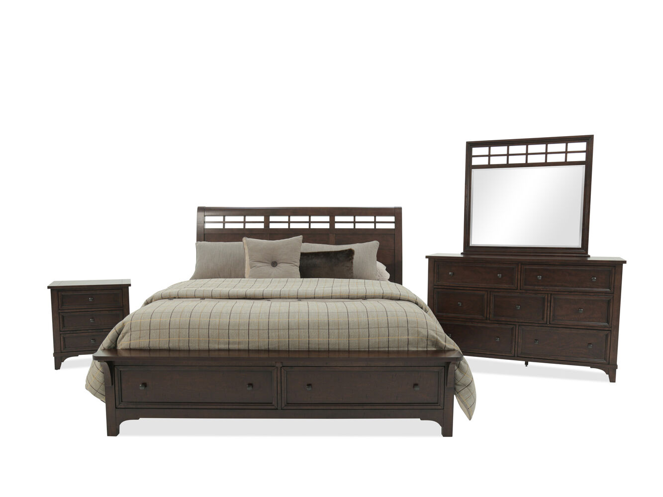 Winners only retreat mango brown bedroom suite mathis for Bedroom suite furniture
