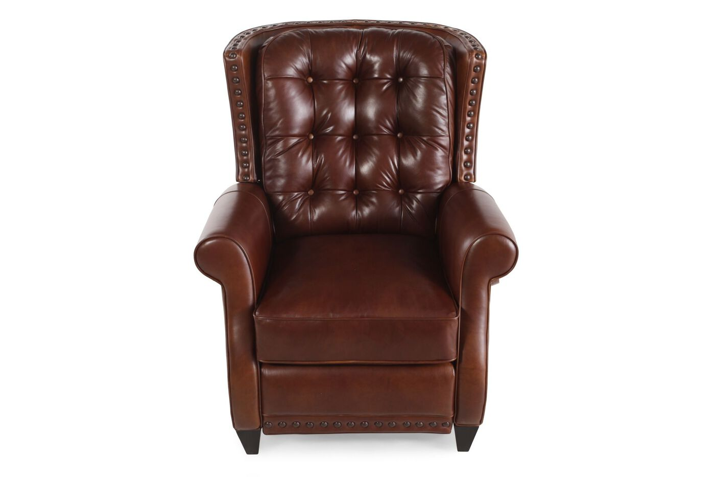 Bernhardt pierce leather recliner mathis brothers furniture for Where to buy bernhardt furniture online