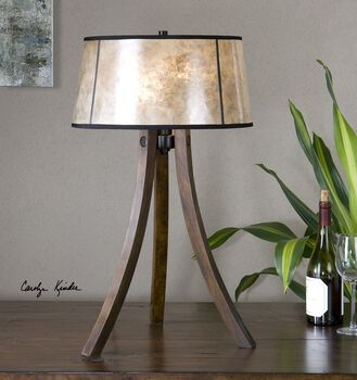 Uttermost Maloy Wood Legs Table Lamp