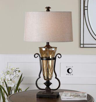 Uttermost Aemiliana Amber Glass Table Lamp