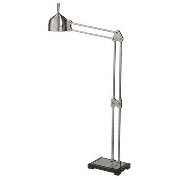 Uttermost Amado Brushed Nickel Floor Lamp