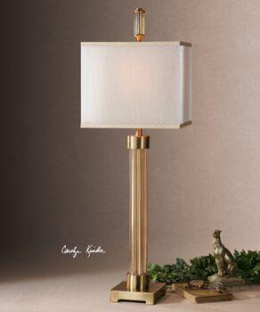 Uttermost Moraira Amber Glass Buffet Lamp