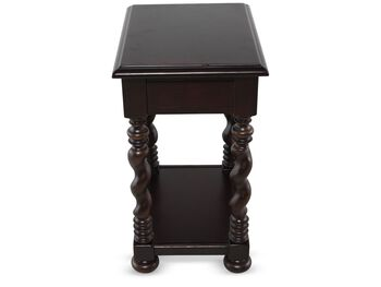 Universal Home Tobacco Finish Sweet Teqa Side Table
